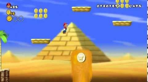 Newer Super Mario Bros Wii World 2-9 Pillar Pass Star Coins & Secret Exit