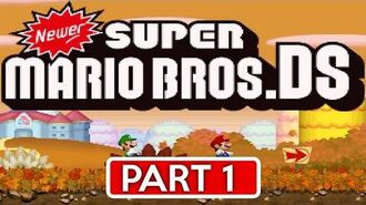 Newer Super Mario Bros. DS Goldleaf Plains (World 1 All Star Coins & Secret Exits)