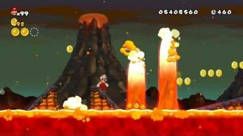 Newer Super Mario Bros Wii World 8-3 Burnstone Flowfalls