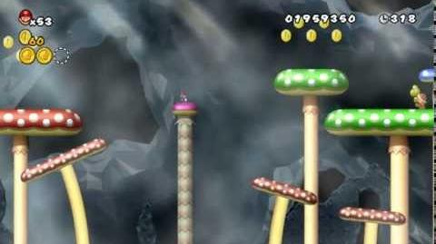 Newer Super Mario Bros Wii World 3-5 Fungi Pit Star Coins