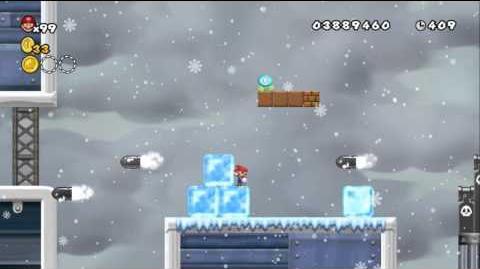 Newer Super Mario Bros Wii World 5-Final Snowdrift Airship
