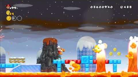 Newer Super Mario Bros Wii World 5-6 Molten Icelifts Star Coins