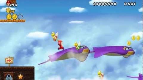 Newer Super Mario Bros Wii World C-1 Manta Raid Star Coins