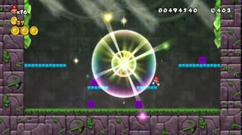 Newer Super Mario Bros Wii World 1-Castle Creepcrack Castle Star Coins