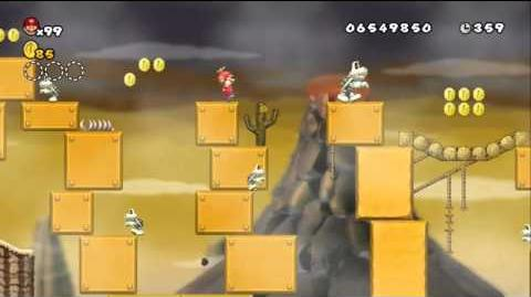 Newer Super Mario Bros Wii World 9-3 Orange Prairie
