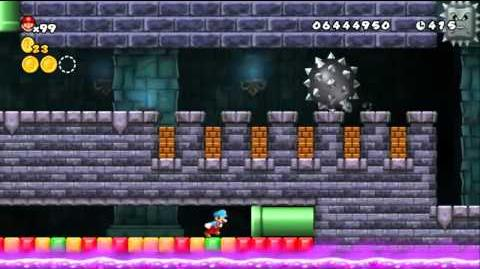 Newer Super Mario Bros Wii World D-Toxic Fortress