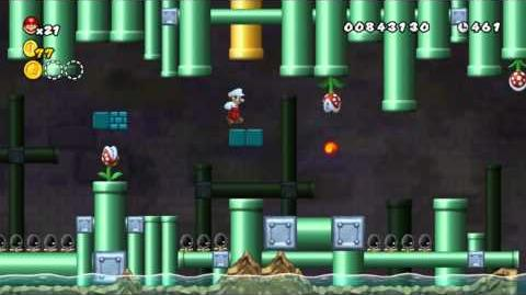 Newer Super Mario Bros Wii World 2-3 Dripdrop Drains Star Coins