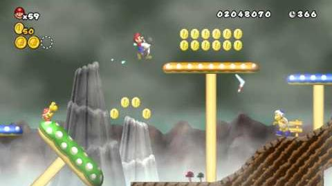 Newer Super Mario Bros Wii World 3-7 Slanty Shroomroad Star Coins
