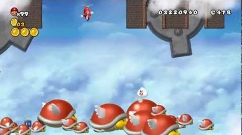 Newer Super Mario Bros Wii World C-3 Parabeetle Peril Star Coins