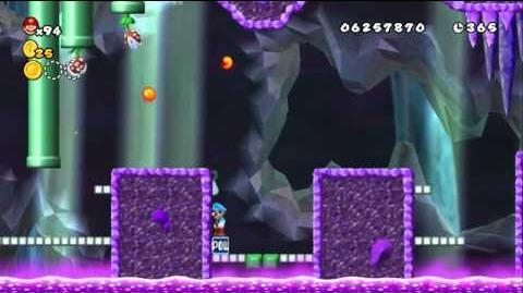 Newer Super Mario Bros Wii World D-1 Swooper Cellar