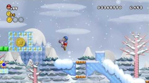 Newer Super Mario Bros Wii World 5-2 Snowball Field Star Coins