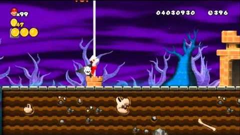 Newer Super Mario Bros Wii World 6-3 Fog Cemetery Pt 1 & 2