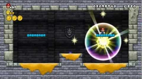 Newer Super Mario Bros Wii World 3-Castle Moltenwire Castle Star Coins