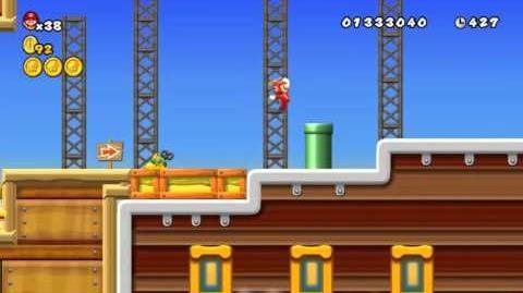 Newer Super Mario Bros Wii World 2-Airship Sandship Star Coins