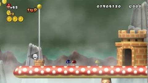 Newer Super Mario Bros Wii World 3-4 Wobbleshroom Bluffs