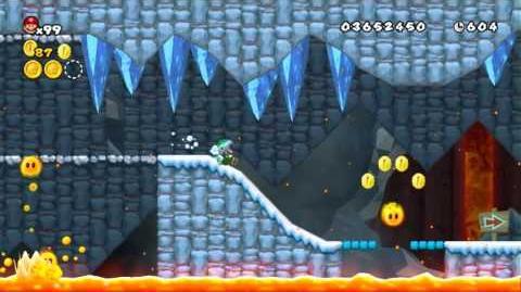 Newer Super Mario Bros Wii World 5-7 Penguin Heatbath Star Coins