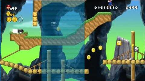 Newer Super Mario Bros Wii World E-1 Bombshell Bridge