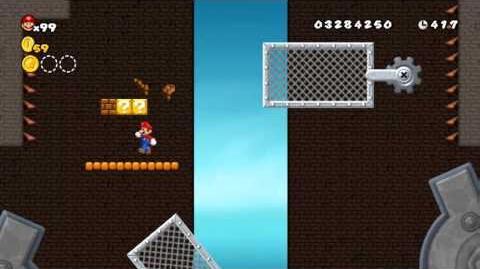 Newer Super Mario Bros Wii World C-Tower Clockwork Tower Star Coins