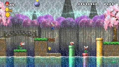 Newer Super Mario Bros Wii World 4-7 Thunder Bridge Star Coins