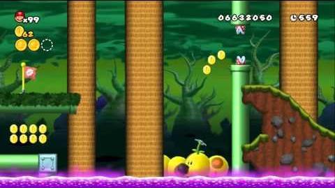 Newer Super Mario Bros Wii World 9-5 Mossdeep Greens