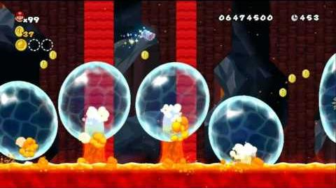 Newer Super Mario Bros Wii World 9-1 Red Lava