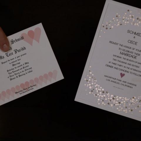 Wedding invitation options