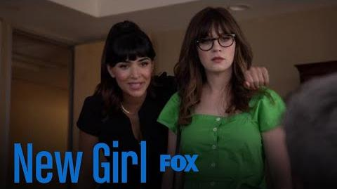 Jess & Cece Barge In On Russell's Meeting Season 7 Ep. 2 New Girl