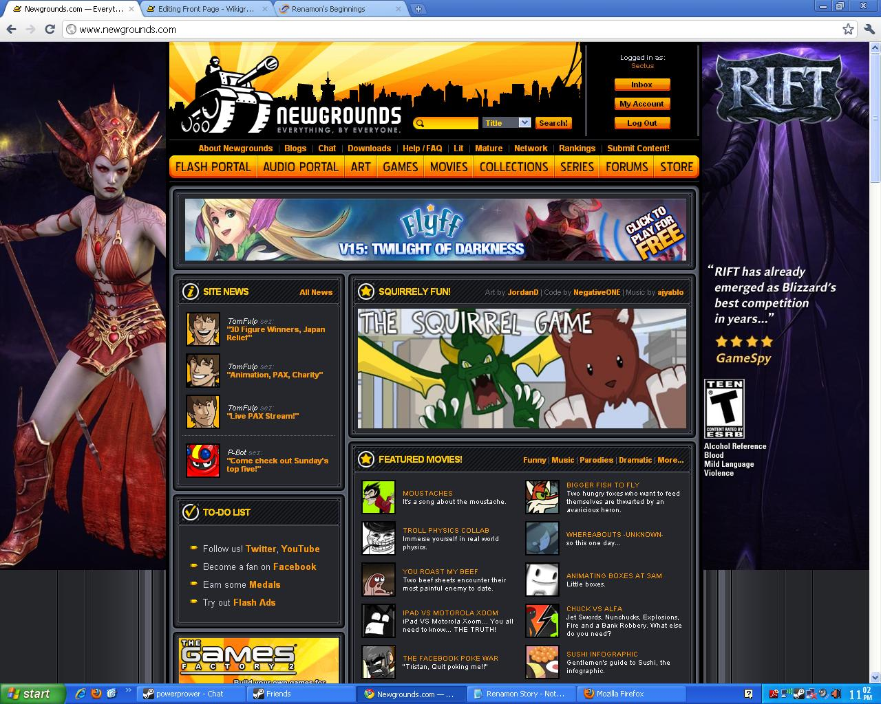 Cant view newgrounds mature