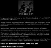 Newgrounds SOPA