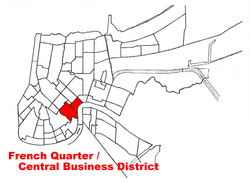 French Quarter map