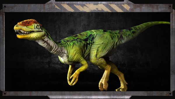 Green Meance Dilophosaurus