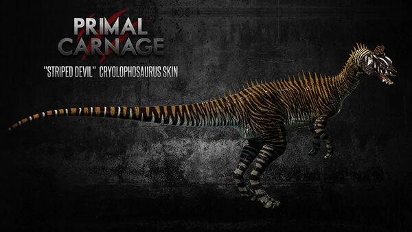 Striped Devil Cryolophosaurus