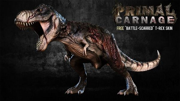 Primal Carnage Battle Scarred T-Rex