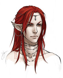 Red haired elf lord by yoenai-d34m6j2