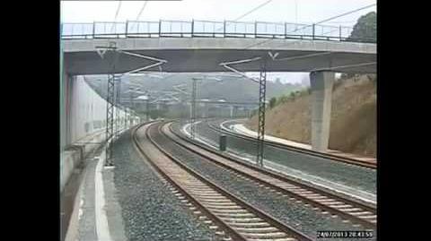 Cctv footage spain train crash full raw video- raw cctv footage Accidente Tren en España