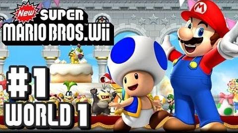 New Super Mario Bros Wii - Co-Op - Part 1 World 1