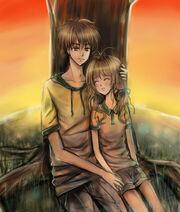 Sakura and syaoran till the sunrise by wishluv-d5d6sh3