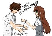 Sakura and syaoran handcuffed by draugurok-d5d9lds