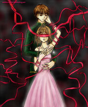 Sakura and Syaoran Blindfold by wishluv