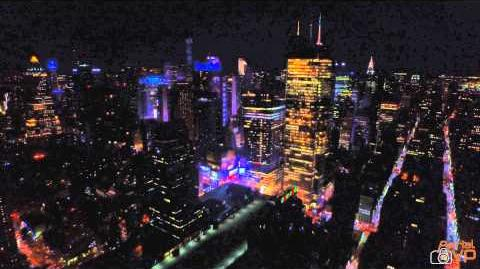 Drone View of New York City Night 4K