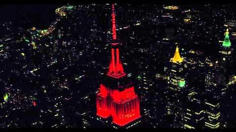 Empire State Building 2015 Halloween Light Show