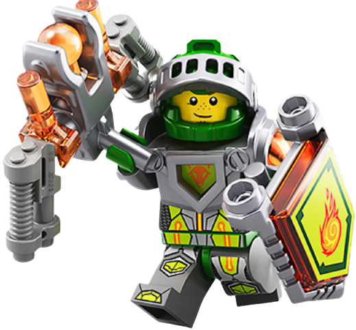 LEGO Nexo Knights Aaron Minifigure 70357 Mini Fig Green