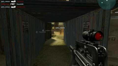 Combat arms black screen when i cross for a grenade fire or gas