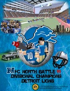 2011 Detroit Lions NFC North Champions Poster
