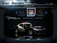 NFSHP2 Car - Dodge Viper GTS Pursuit PC