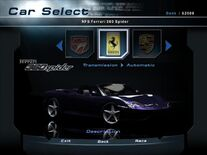 NFSHP2 Car - Ferrari 360 Spider NFS PC