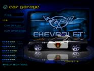 Pursuit Corvette in the garage