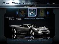NFSHP2 Car - Mercedes-Benz CLK GTR PC