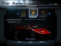 NFSHP2 Car - Lamborghini Diablo VT 6.0 NFS PC