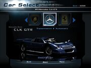NFSHP2 Car - Mercedes-Benz CLK GTR NFS PC